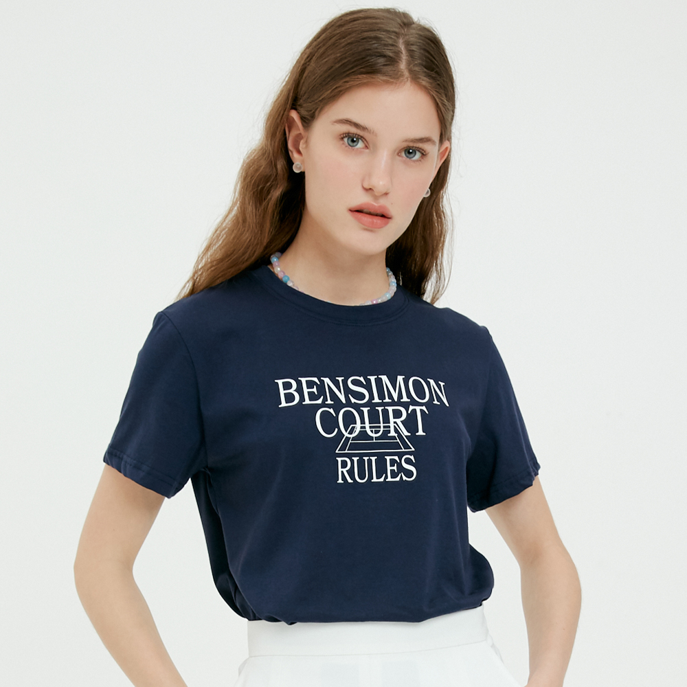벤시몽(BENSIMON) COURT LOGO T-SHIRTS - NAVY